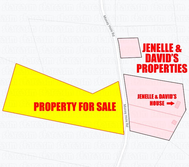 Jenelle and David Eason The Land property map