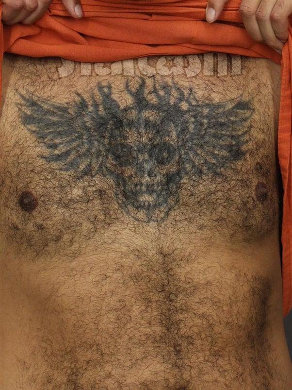 Kieffer Delp chest tattoo