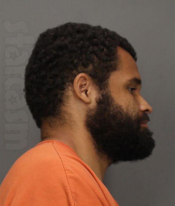 Kieffer Delp new mugshot photo with a beard from 2020 arrest
