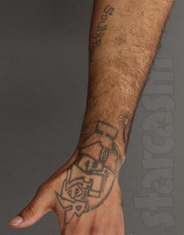 Kieffer Delp wrist tattoo