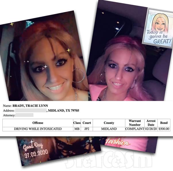 Love After Lockup Clint's goddess Tracie Brady arrested for DWI in Texas