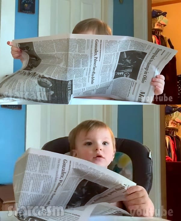 TLC Unexpected McKayla Adkins son Timmy reading a newspaper
