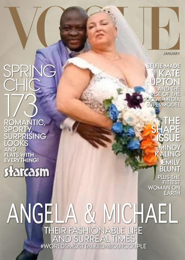 90 Day Fiance Vogue magazine cover with Angela Deem and Michael