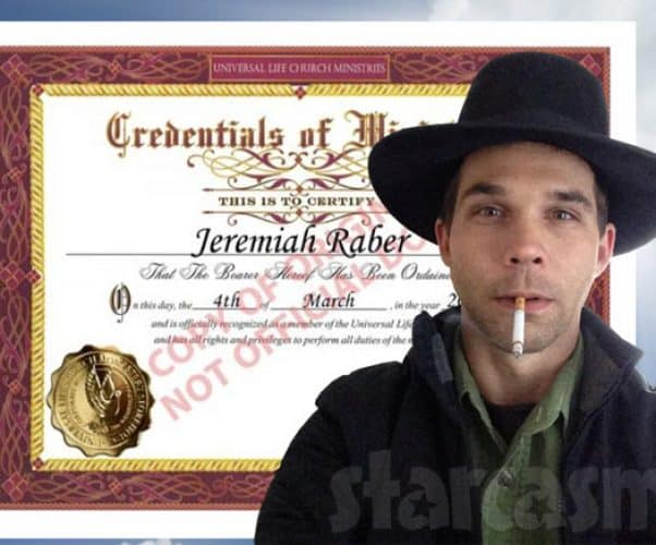 Breaking Amish Return to Amish Jeremiah Raber is a minister now