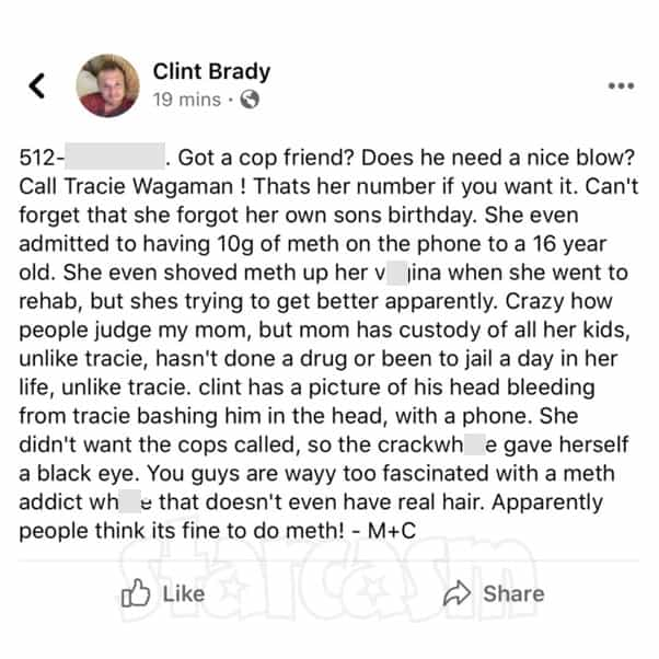 Love After Lockup Clint Brady Tracie Facebook post