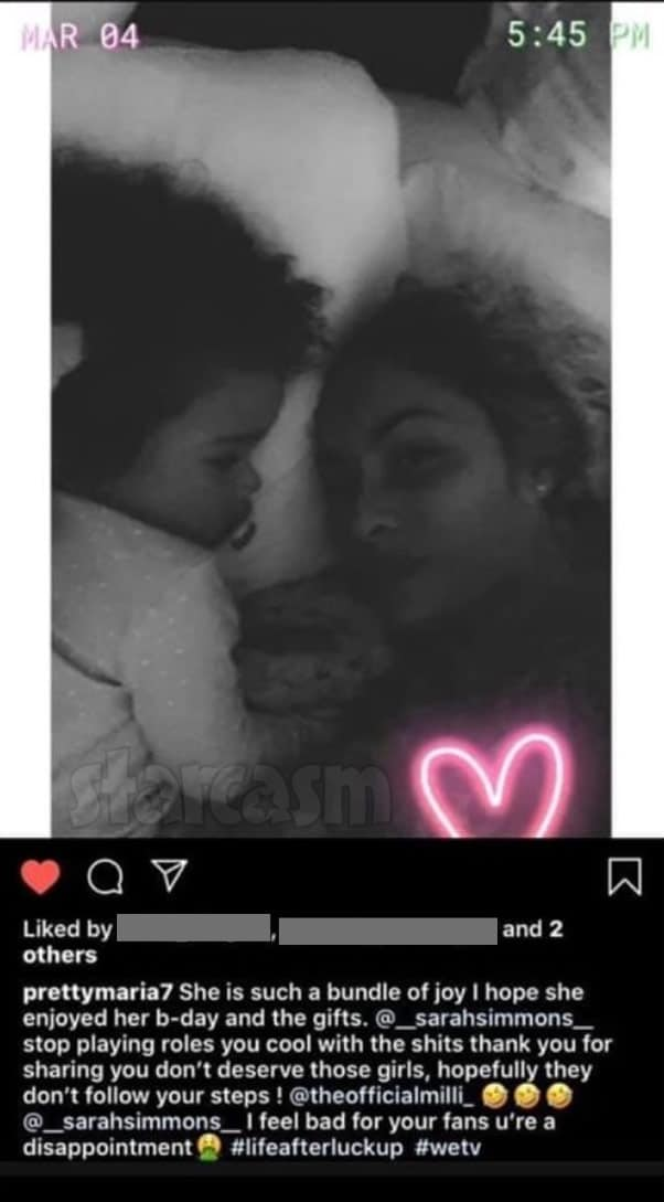 Life After Lockup Michael's girlfriend Maria photo with Sarah's daughter Rayne on Instagram
