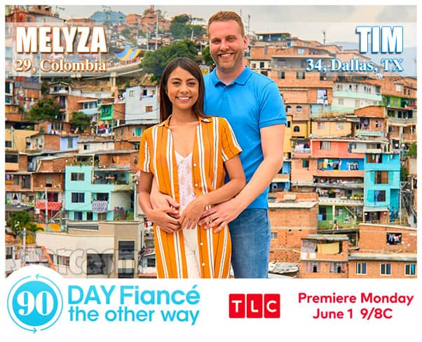 90 Day Fiance The Other Way Season 2 Melyza from Colombia  and Tim from Dallas Texas