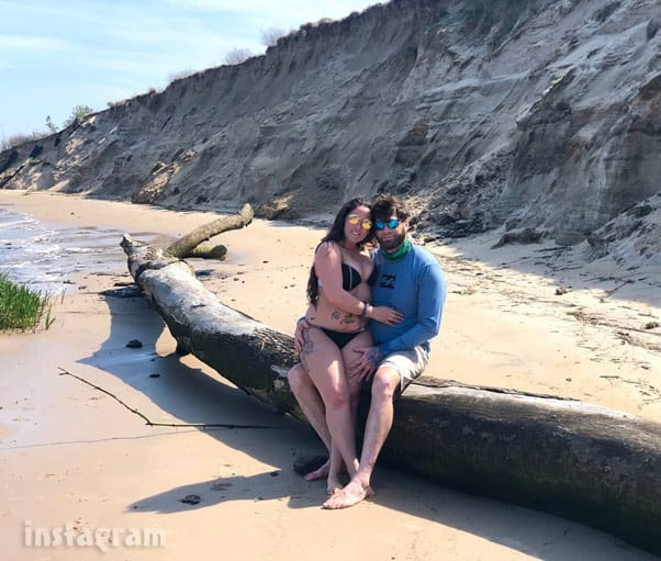Teen Mom 2 Photo of David Eason Jenelle Evans together in 2020