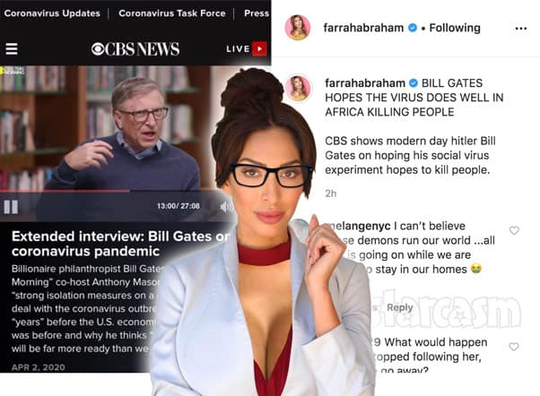 Teen Mom Farrah Abraham attacks Bill Gates over coronavirus pandemic