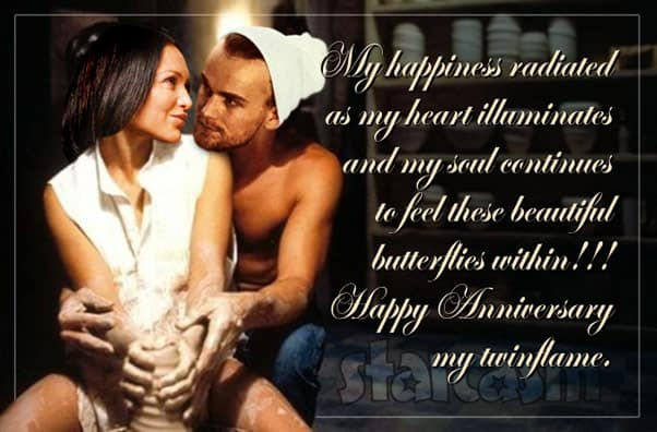 Jesse Meester and Darcey Silva as Patrick Swayze and Demi Moore from the movie Ghost pottery scene meme parody