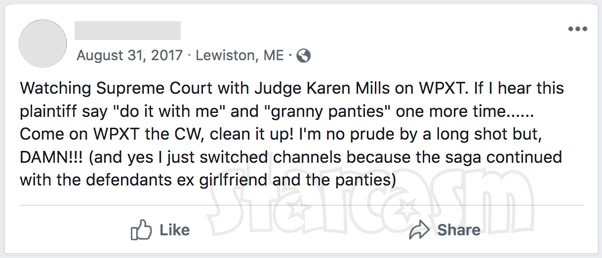 Supreme Justice with Judge Karen Mills Granny Panties episode reaction