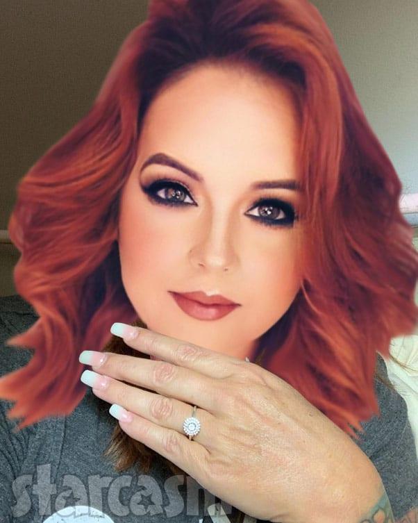 Rebecca Parrott engagement ring Instagram filter