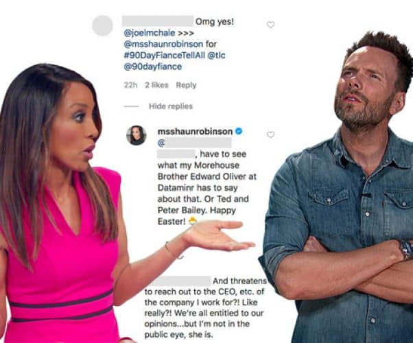 Shaun Robinson Joel McHale 90 Day Fiance Tell All host feud
