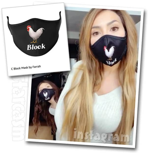 Teen Mom OG Farrah Abraham Sophia C*ck block masks