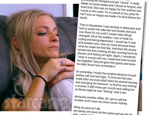 Teen Mom OG Mackenzie McKee says husband Josh McKee had obvious affair with her cousin Ashley