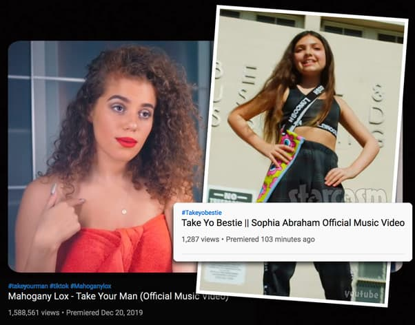 Teen Mom Og Farrah Abraham's daughter Sophia Abraham's song Take Yo Bestie sounds very similar to Mahogany Lox's Take Your Man