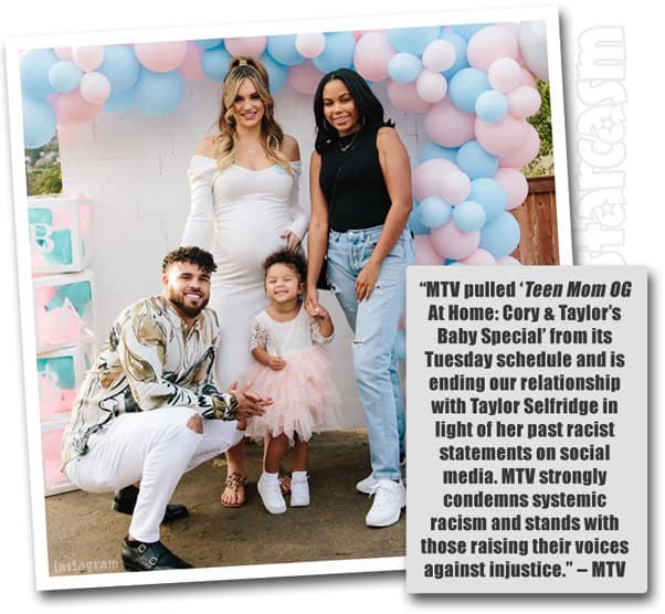 MTV fires Cory Wharton's girlfriend Taylor Selfridge from Teen Mom OG over racist tweets