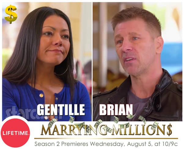 Marrying Millions Gentille and Brian return