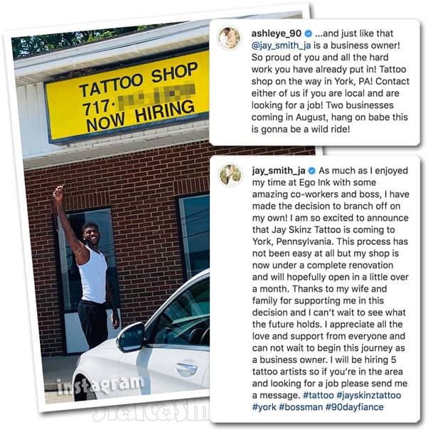 90 Day Fiance Jay Smith opening his own tattoo parlor