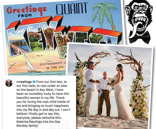 Fast N Loud Gas Monkey Garage Richard Rawlings wedding photo with Katerina Deason