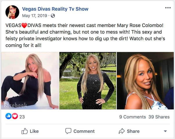 TLC sMothered Mary Colombo other reality show Vegas Divas