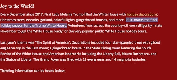 Melania Trump Christmas 2020 4