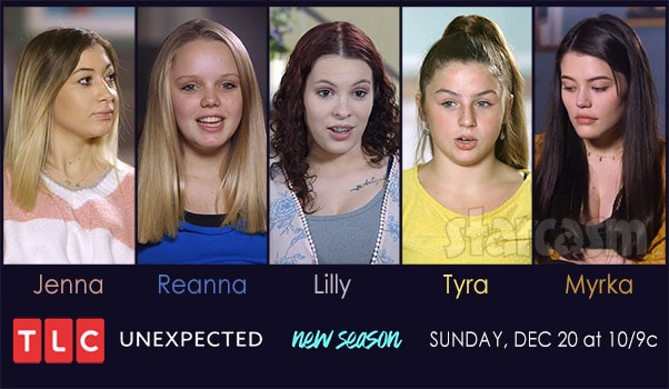 TLC Unexpected Season 4 cast moms Jenna Reanna Lilly Tyra Myrka