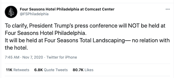 Trump event at Four Seasons Total Landscaping 3