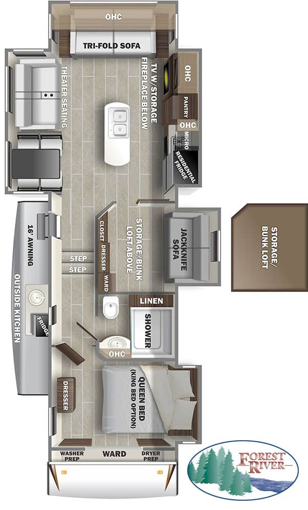 Russ and Pao's RV camper fifth wheel floor plan