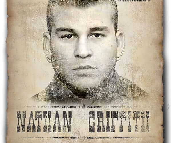 Nathan Griffith wanted poster after warrant issued for his arrest in North Carolina