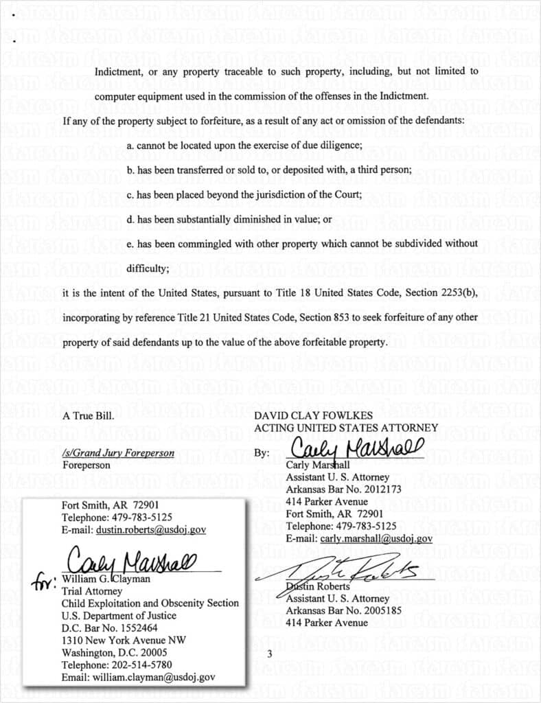 Josh Duggar full indictment page 3 and 4