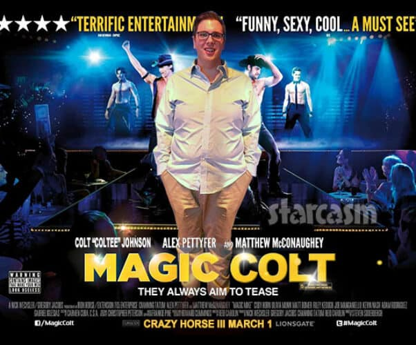 Magic Mike poster with Colt Johnson from 90 Day Fiance