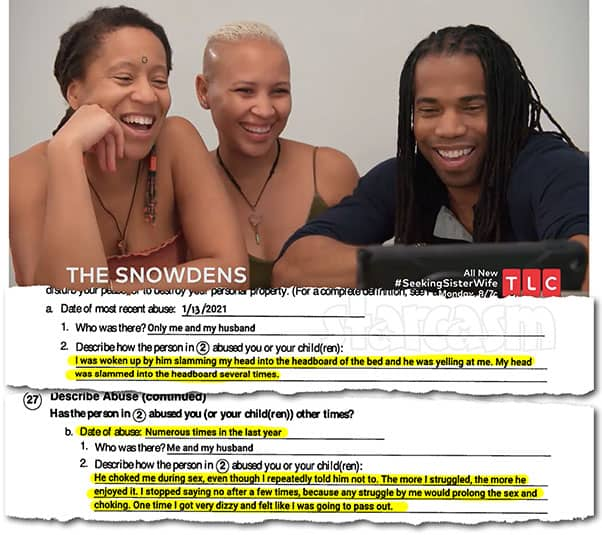 Seeking Sister Wife Christeline Peteresen accuses Ashley and Dimitri Snowden of domestic abuse, gets restraining orders against both