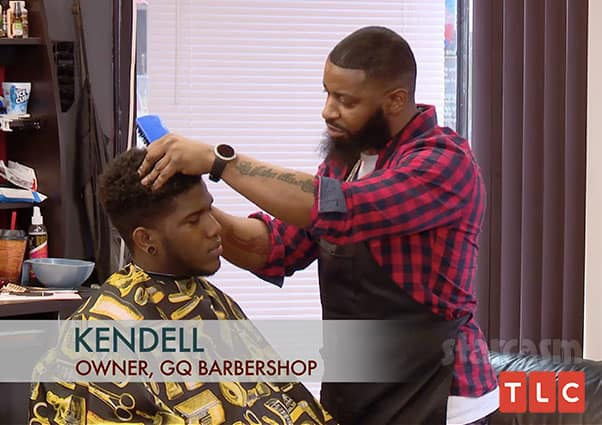 90 Day Fiance Jay's barber Kendell Cook GQ Barbershop