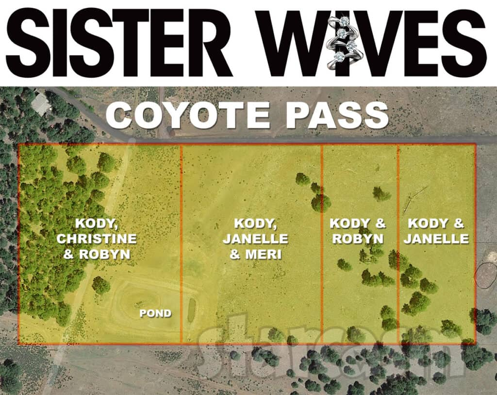 Sister Wives Coyote Pass property map