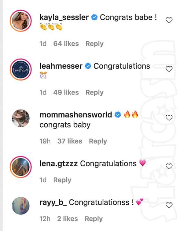 Teen Mom Ashley jones college graduation congrats from co-stars