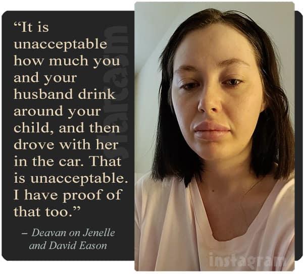 Deavan Clegg Jenelle Eason drunk driving quote