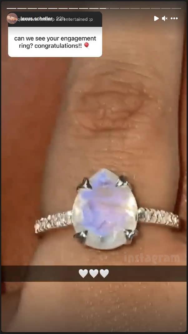 TLC Unexpected Lexus Scheller engagement ring