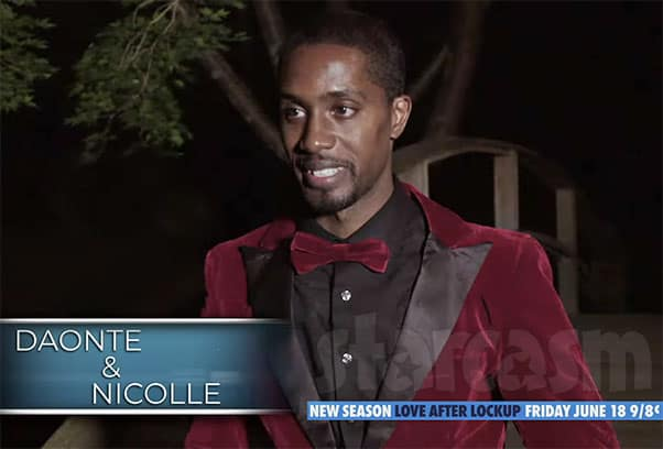 Love After Lockup Daonte wedding photo red velvet suit