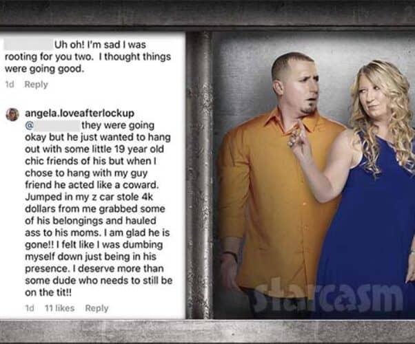 Love After Lockup Angela and Tony split