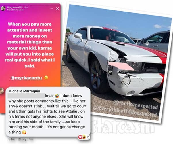 Unexpected Ethan and Myrka feud, he gets in a car wreck