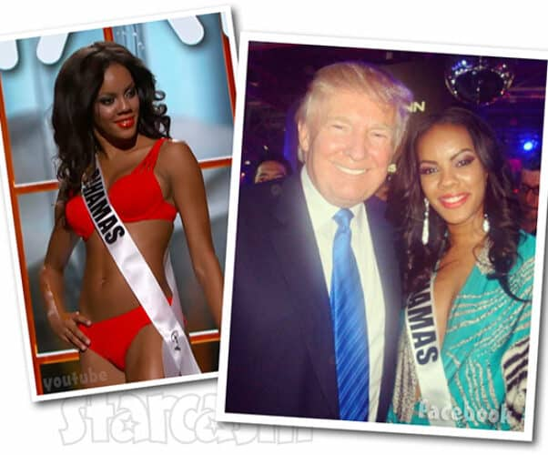 Below Deck Lexi Wilson Miss Bahamas with Donald Trump