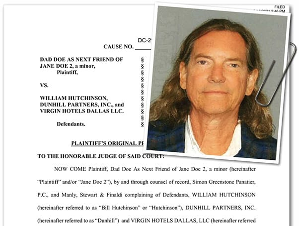 Marrying Millions Bill Hutchinson sexual assault civil suit