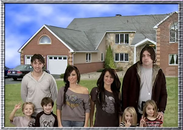 Darcey and Stacey's ex husbands and children from The Twin Life reality series