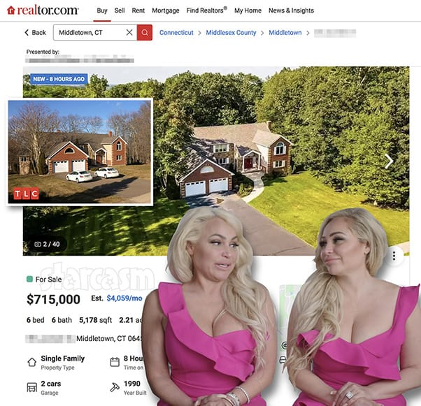 Darcey and Stacey Silva's house is for sale in Middletown Connecticut