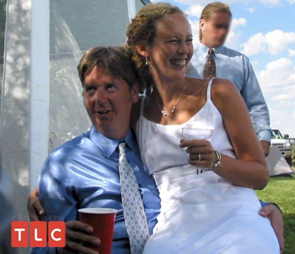 Ellie Rose and first husband Matt wedding photo