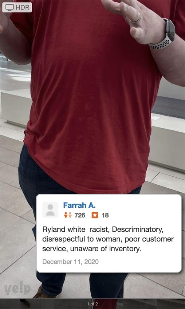 Farrah Abraham Apple Store Yelp review