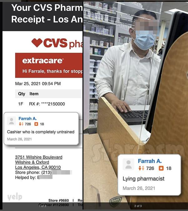Farrah Abraham Yelp review of CVS