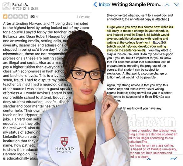 Teen Mom Farrah Abraham Harvard Yelp review