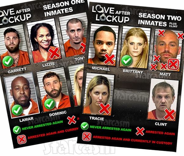Love After Lockup Seasons 1 and 2 cast inmates